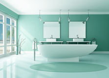 Luxury modern bathroom Stock Photography