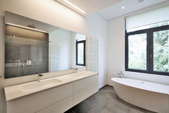 Luxury modern bathroom Stock Image