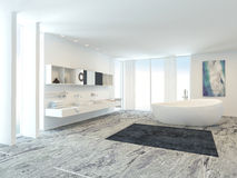 Luxury modern bathroom interior Royalty Free Stock Photos