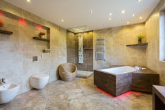 Luxury and modern bathroom interior Stock Photography