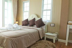 Luxury modern  bedroom. Royalty Free Stock Images