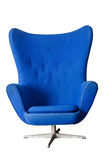 Luxury Modern Blue Chair Royalty Free Stock Photography