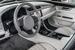 Luxury and modern car interior Stock Photography