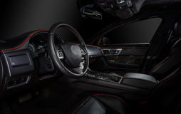 Luxury modern car interior Stock Photography