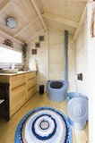 Luxury Modern Chemical Dry Toilet Cabin w Royalty Free Stock Image