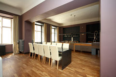 Luxury modern dinning room Royalty Free Stock Images