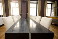 Luxury modern dinning room. Picture of a luxury modern dinning room Royalty Free Stock Photo