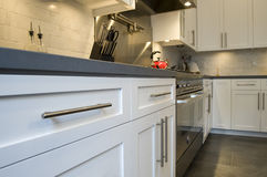 Luxury modern fitted kitchen with stainless steel Stock Image