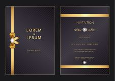 Luxury modern golden wedding, invitation, celebration,greeting,congratulations cards pattern background template with diamond. Luxury modern golden wedding vector illustration