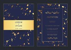 Luxury modern golden wedding, invitation, celebration,greeting,congratulations cards pattern background template. Luxury modern golden wedding, invitation royalty free illustration