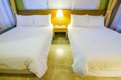 Luxury modern hotel bedroom interior decoration Stock Images