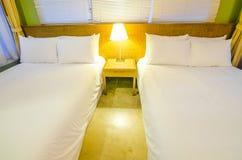 Luxury modern hotel bedroom interior decoration Stock Photography