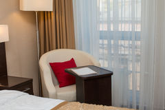 Luxury modern hotel room Stock Images