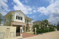 Luxury modern house exterior. Against blue sky Stock Photography