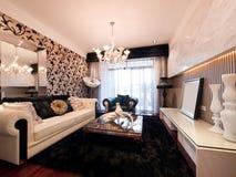 Luxury modern living room stock images
