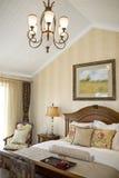 Luxury modern bedroom stock photography