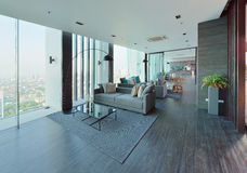 Luxury modern living room interior and decoration, interior desi. Gn Royalty Free Stock Images