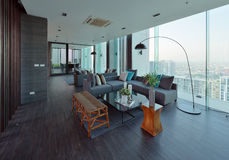 Luxury modern living room interior and decoration, interior desi. Gn Royalty Free Stock Image