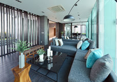 Luxury modern living room interior and decoration, interior desi. Gn Stock Photography