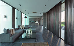 Luxury modern living room interior and decoration, interior desi. Gn Royalty Free Stock Photos