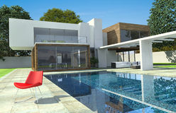 Luxury modern mansion exterior Royalty Free Stock Photography