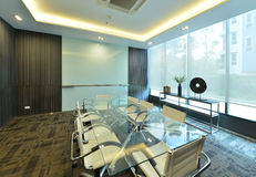 luxury modern meeting room interior and decoration, interior design stock image