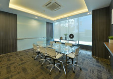 luxury modern meeting room interior and decoration, interior design royalty free stock photography