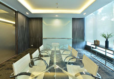luxury modern meeting room interior and decoration, interior design royalty free stock images