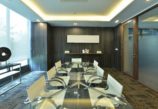 luxury modern meeting room interior and decoration, interior design royalty free stock image