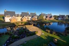 Luxury modern neighbourhood in morning light royalty free stock image