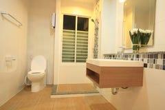 Luxury modern style bathroom. Luxury modern style interior bathroom Royalty Free Stock Photos