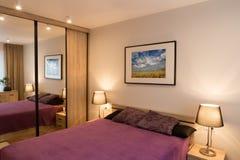 Luxury modern style bedroom. Royalty Free Stock Image