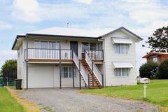 Luxury modern villa with veranda and garden, Queensland Stock Photo