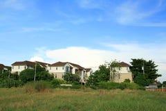 Luxury modern village royalty free stock photos