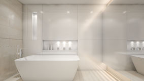 Luxury modern water closet / 3D Rendering Stock Photography