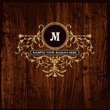 Luxury Monogram Emblem template Royalty Free Stock Photography