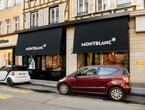 Luxury Montblanc watch store in Strasbourg Royalty Free Stock Images