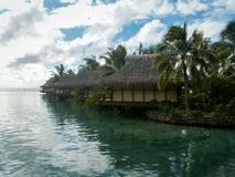 Luxury Moorea Huts Stock Photo