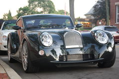 Luxury Morgan sports car. Parked on a street Royalty Free Stock Images