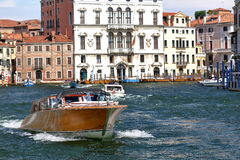 Luxury motor boat in Grand Canal. Venice, Italy Stock Image