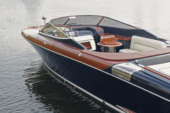 Luxury motor boat at the pier Royalty Free Stock Images