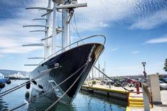 Luxury motor sail boat Royalty Free Stock Photo