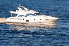 Luxury motor yacht Royalty Free Stock Photography