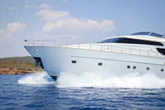Luxury motor yacht Royalty Free Stock Photo
