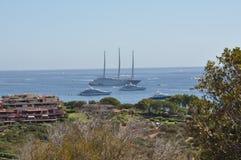 Luxury motor yacht A Stock Photos