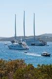 Luxury motor yacht A Stock Photo