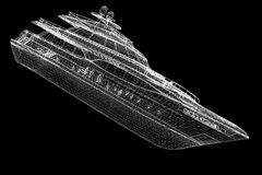 Luxury motor yacht Stock Photos