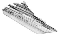 Luxury motor yacht Royalty Free Stock Photo