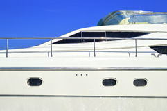 Luxury motor yacht Royalty Free Stock Image