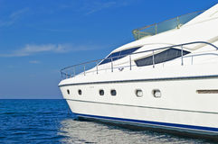 Luxury motor yacht Royalty Free Stock Images